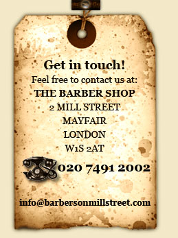 Get in touch with The Barber Shop on Mill Street